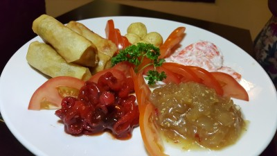 The Buffet Egg-Xperience by Street 50 Restaurant and Bar - Chinese Cold Cuts (comprising Jellyfish, Marinated Octopus, Prawn Salad, Spring Rolls and Deep-fried Quail Eggs)