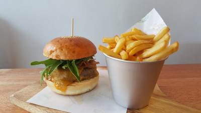 Rise And Grind Co On HollerOut App - The Gold Standard Burger ($18)