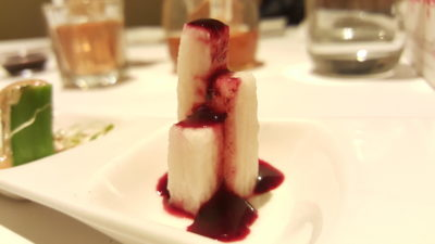 Sufood Singapore Celebrating Mother's Day 2016 At Raffles City, City Hall - The Sufood Appetiser, Japanese Yuca Root drizzled with a blueberry coulis