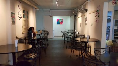 Paper Crane Cafe At Waterloo Street, Bras Basah, Singapore - Non air-conditioning seating area