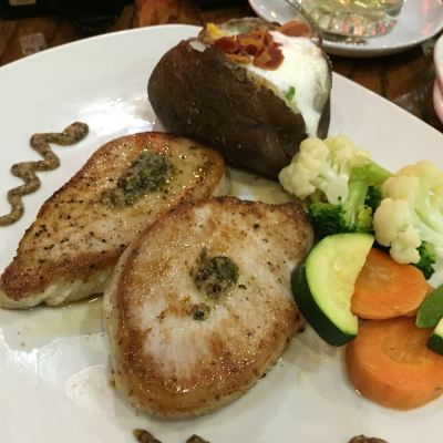 Outback Steakhouse Singapore Tasting Menu - Garlic Glazed Pork Loin ($25.90)