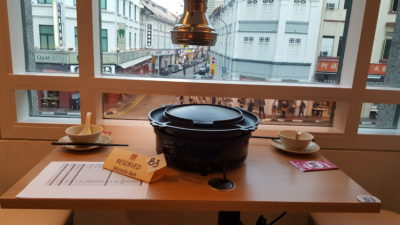 Mookata At Bugis Junction, Singapore - Our Table with a view