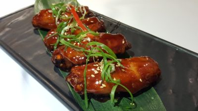 Street 50 Brand New All Day Dining Menu At Bay Hotel, Harbourfront, Singapore - Coffee Wings ($7.90)