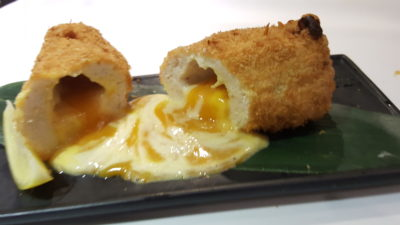 Street 50 Brand New All Day Dining Menu At Bay Hotel, Harbourfront, Singapore - Salted Egg Lava Chicken Breast ($9.90)