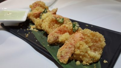 Street 50 Brand New All Day Dining Menu At Bay Hotel, Harbourfront, Singapore - Cereal Prawn with Wasabi Dressing ($9.90)