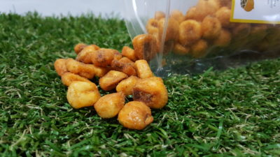 Wholesome Snacks From Garden Picks - Chilli Corn Nuts close up