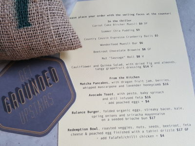 Grounded By CMCR at Robertson Quay, Singapore - Menu