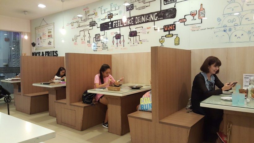 Rice & Fries Cafe at Kembangan, Singapore - Interior