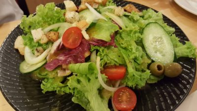 Rice & Fries Cafe at Kembangan, Singapore - Chef's Salad with Mango Infused Olive Oil ($7.80)