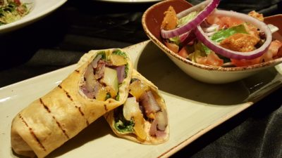 Hard Rock Cafe Singapore Vegetarian Menu At Resort World Sentosa, Singapore - Grilled Ratatouille Wrap ($18)
