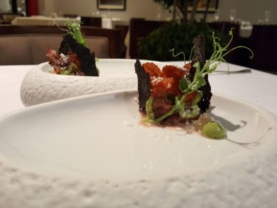 Alma by Juan Amador At Goodwood Park Hotel, Orchard, Singapore, 1 Michelin Star Restaurant - Second Course, Lamb Tartare
