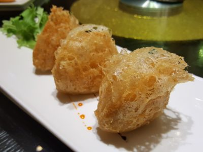 Lan Ting Cuisine & Wine At East Coast Road In Siglap, Singapore - Taro Puff with Diced Chicken ($4.90 for 3)