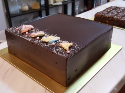 "Lucia Cakes At Club Street In Telok Ayer, Singapore - Chocolate Fudge Cake, 7"" ($45)"
