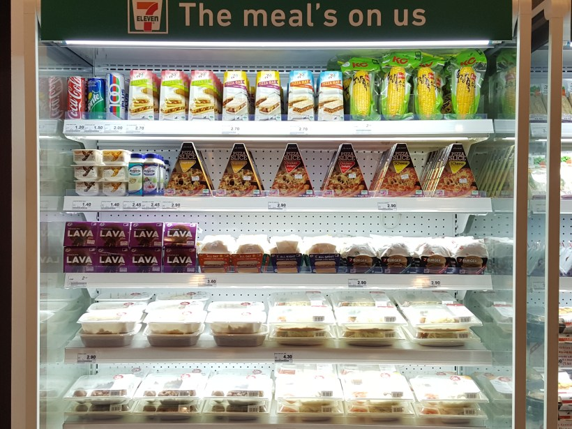 7-Eleven Singapore Fresh Chilled Ready-To-Eat Meals - Chilled Section