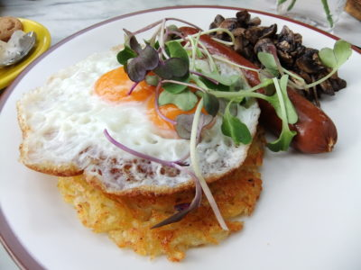 Miss Bee Providore Cafe at Bandung, Indonesia - Breakfast Rosti (IDR 89.5k)