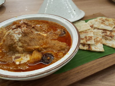 Basil Thai Kitchen At Paragon In Orchard, Singapore - Massaman Chicken Curry with Crispy Roti ($13.90)