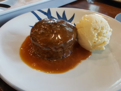 RevoluShen Wave At Revolution Coffee In One North, Singapore -Pulot Hitam Pudding with Gula Melaka Butterscotch served with Coconut Ice Cream ($10)