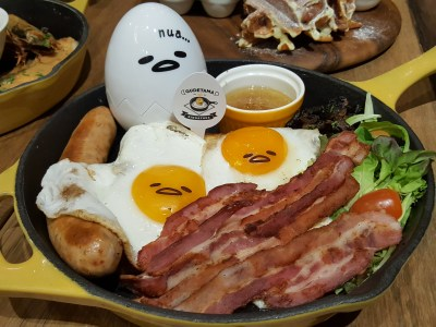 "Gudetama Cafe Singapore At Suntec City - Big ""Nua"" Breakfast"