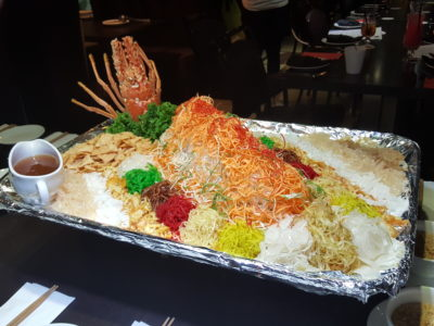Chinese Zodiac New Year Celebration 2017 With Street 50 At Bay Hotel - Lobster Yusheng with Bird Nest (龙虾燕窝鱼生)