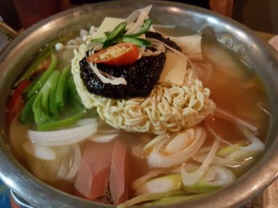 Chicken Up Korean Restaurant At Tanjong Pagar - Army Stew