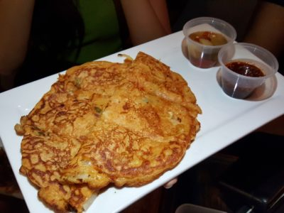 Chicken Up Korean Restaurant At Tanjong Pagar - Seafood Pajeon