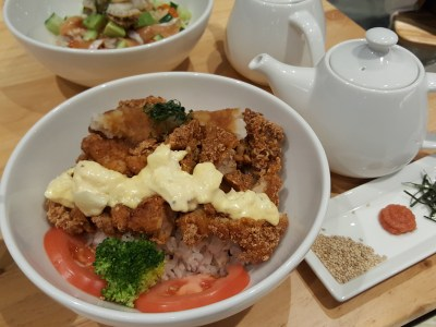 Japan Rail Cafe Singapore At Tanjong Pagar Centre - Twin Flavored Crispy Chicken Don ($16)