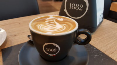 Caffe Vergnano 1882 Singapore At South Beach - Cappuccino ($4.50 For Regular, $5.50 For Large)