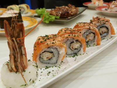 Sushi Mentai At Junction Nine In Yishun, Singapore - Salmon Mentai Dragon Maki ($7.50)