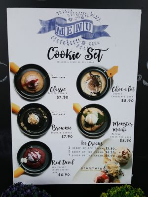 Creamery Boutique Ice Creams At Tyrwhitt Road - Cookie Set Menu