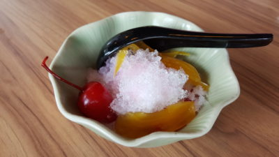 Thai Accent Restaurant At VivoCity - Red Ruby Waterchesnuts & Jackfruits served with Iced Coconut Milk ($4.90)
