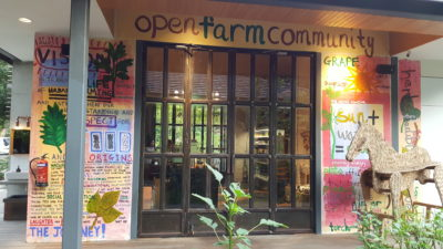 Open Farm Community New Locally Inspired Menu - Entrance to cafe