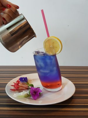 Carol Mel Cafe Re-visit, At Irvin Place - Butterfly Pea Drink