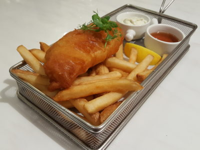 D'Good Cafe @ Ngee Ann City, London Subway Theme - LING Cod Fish and Chips ($22)