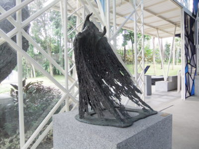 NuArt Sculpture Park at Bandung, Indonesia - Dark side looking sculpture