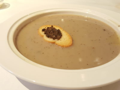 Sufood Introduces New Salad And Truffle Dishes To Their 8-course Dinner Set - Cream of Wild Mushroom Soup with Black Truffles