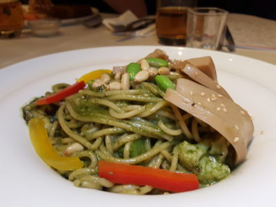 Sufood Introduces New Salad And Truffle Dishes To Their 8-course Dinner Set - White Ferula Pesto Pasta