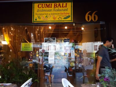 Cumi Bali Indonesian Restaurant, Thriviving Among the Big Names of Korean Restaurant At Tanjong Pagar - Facade
