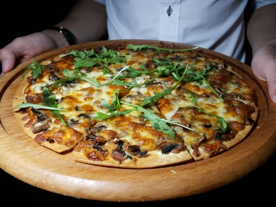 South Beach Avenue, The D-Place To Be For Everyone - Harry's, Mushroom & Truffle Oil Flatbread ($23.90)