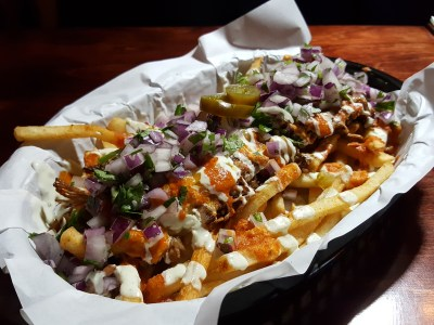 South Beach Avenue, The D-Place To Be For Everyone - Vatos, Kimchi Carnitas Fries ($18)