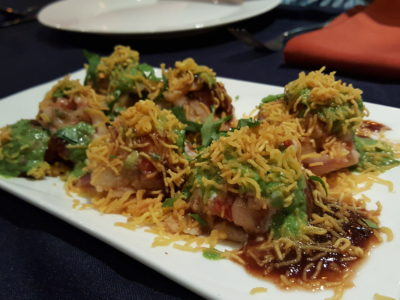 Kebabs on the Grille 印度小厨 At Jinqiao, Pudong - Sev Papdi Chaat (RMB 40)