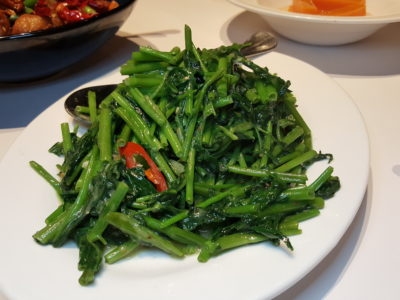 Ten Ten Hunan Bistro 十食湘, Delish Food With Outstanding Service, At Reel Mall - Sauteed Water Spinach with Preserved Bean Curd 腐乳空心菜 (RMB 48)