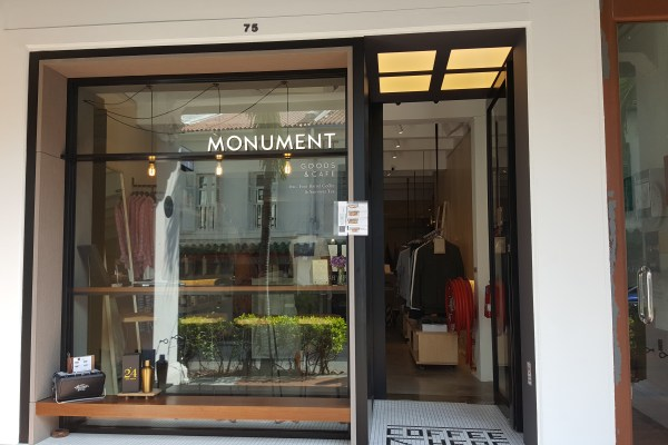 Monument Lifestyle, A Retail Cum Cafe Concept, At Duxton Road - Facade