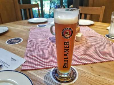 Paulaner Bräuhaus At Millenia Walk Reopens As Asia's New Model Flagship Store, Promenade Singapore – Weissbier Wheat Beer (S$16.80++ for 500ml)