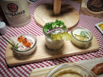 Paulaner Bräuhaus At Millenia Walk Reopens As Asia's New Model Flagship Store, Promenade Singapore – Pretzel Tree (S$13.90++) and Paulaner Fish Trio (S$15.90++)