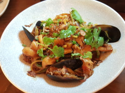 """Wine & Chef At Keong Saik Road For Quality Wine At Wallet Friendly Price - Crab Meat """"Hokkien Mee"""" ($26++)"""