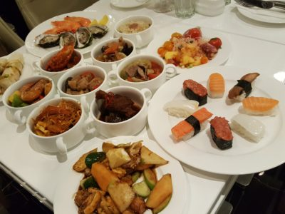 Peranakan Buffet At The Royale At Mercure Singapore Bugis Hotel - Our spread at the table