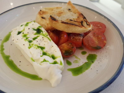 Venue By Sebastian By Ember Former Chef Now Opened At Downtown Gallery - Burrata, cerise haut clos cherry tomato, batard ($14)