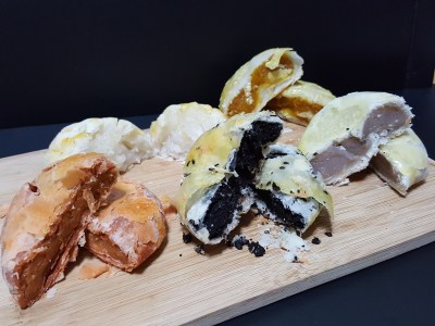 April's Bakery Hailing From Bangkok Offering Sweet Pie At Tampines MRT Station - Sweet Pies, 5 flavours, another view of filling