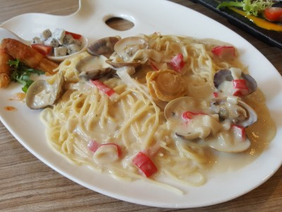 Wan He Lou New 5-Course Weekday Gourmet Lunch Set, Irresistible And Value-For-Money - Seafood Pasta With Whole Abalone