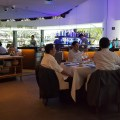 Marriott Pool Grill, Delish Food With Pool and Orchard Skyscrapper View In Al Fresco Style Dinning - Interior Another view
